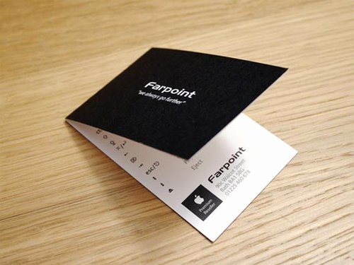 Folded Business Cards Design