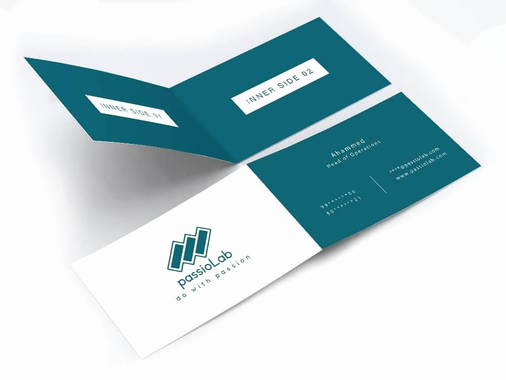 Folded Business Cards Template Elegant Minimal Business