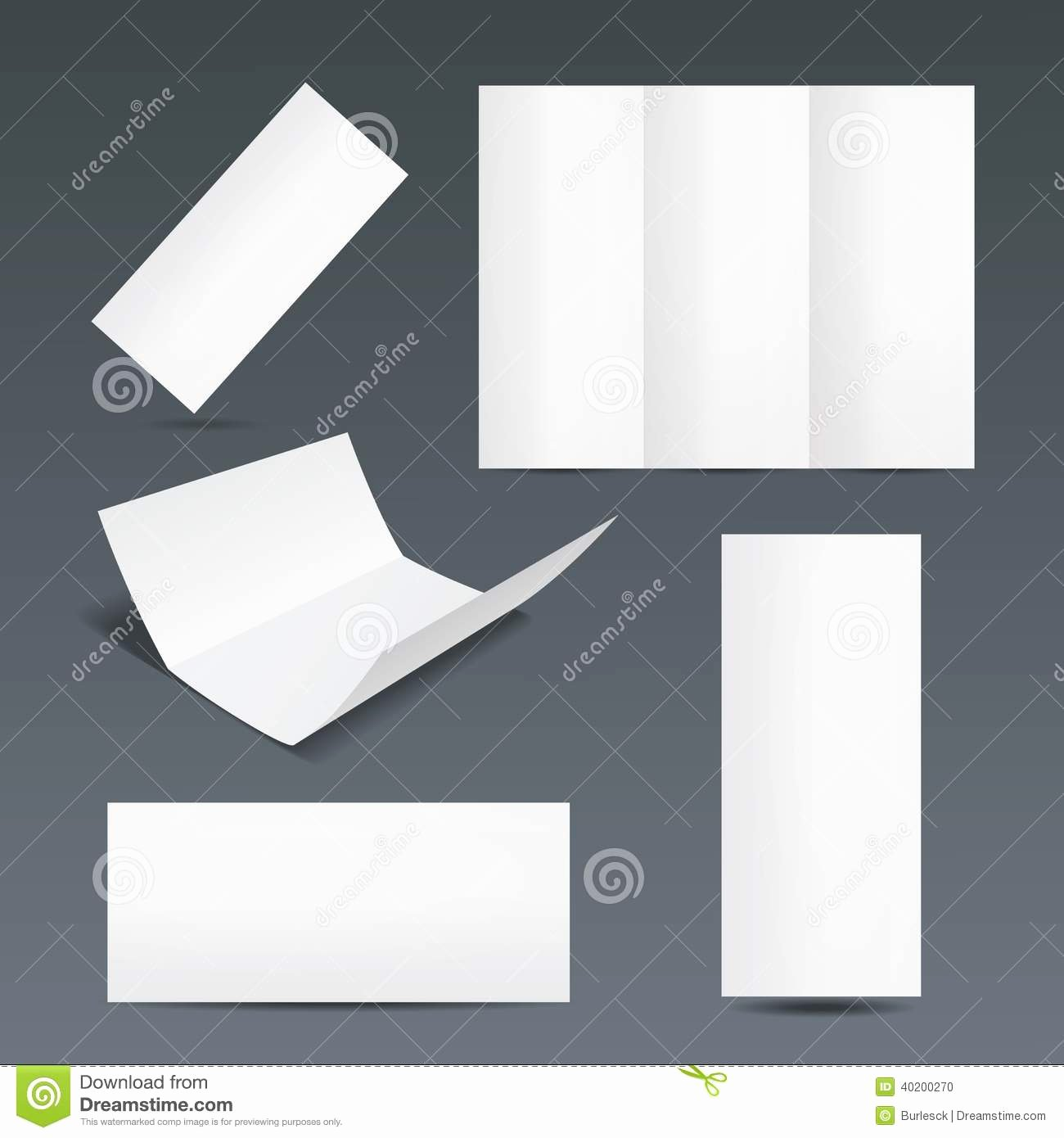 Folded Business Cards Template