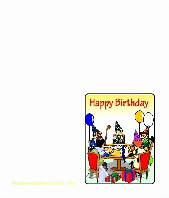 Folding Birthday Card Template Front Half Easy to Edit and