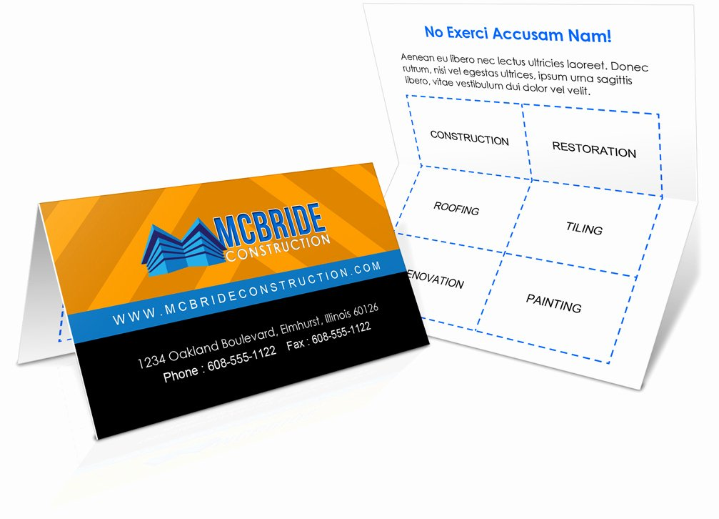Foldover Business Card Mockup