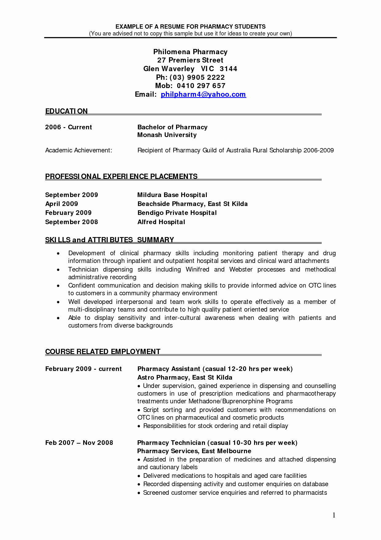 Follow these Updated Pharmacist Resume Samples Free 2018