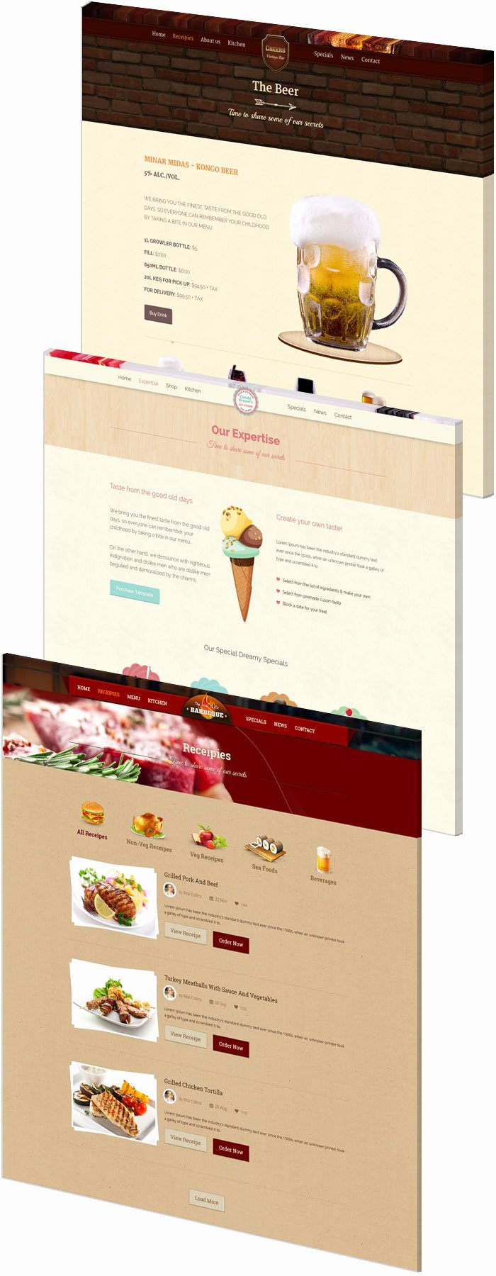 Food & Beverages E Page HTML5 Template