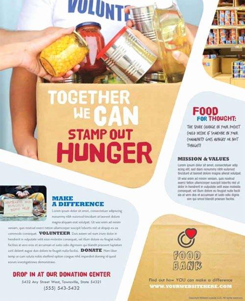 Food Drive Flyer Template Yourweek D44a8beca25e