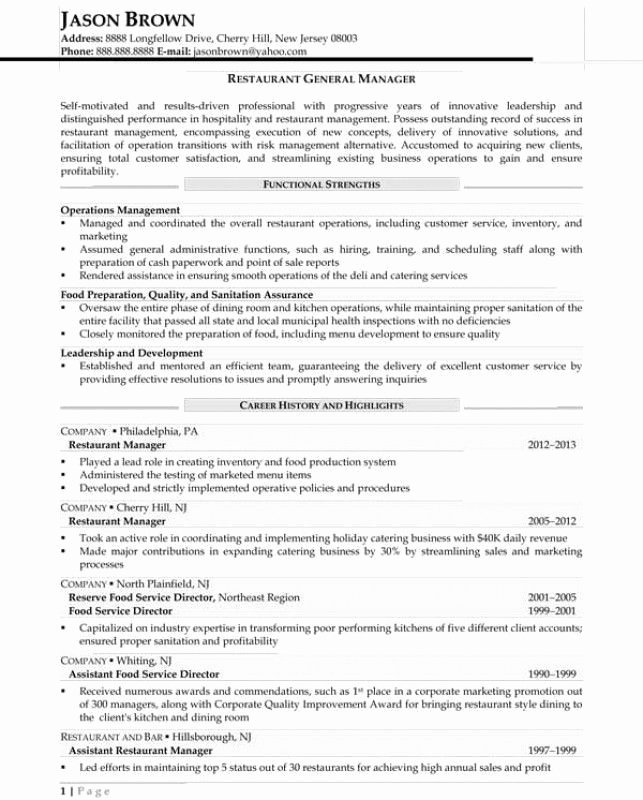 Food Expeditor Resume Best Resume Collection