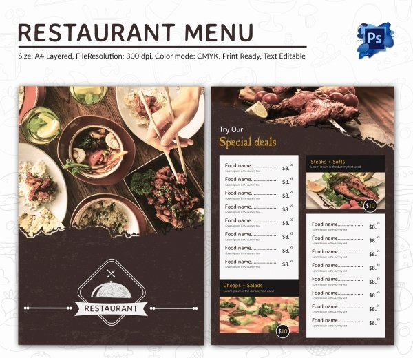 Food Menu Template 35 Free Word Pdf Psd Eps
