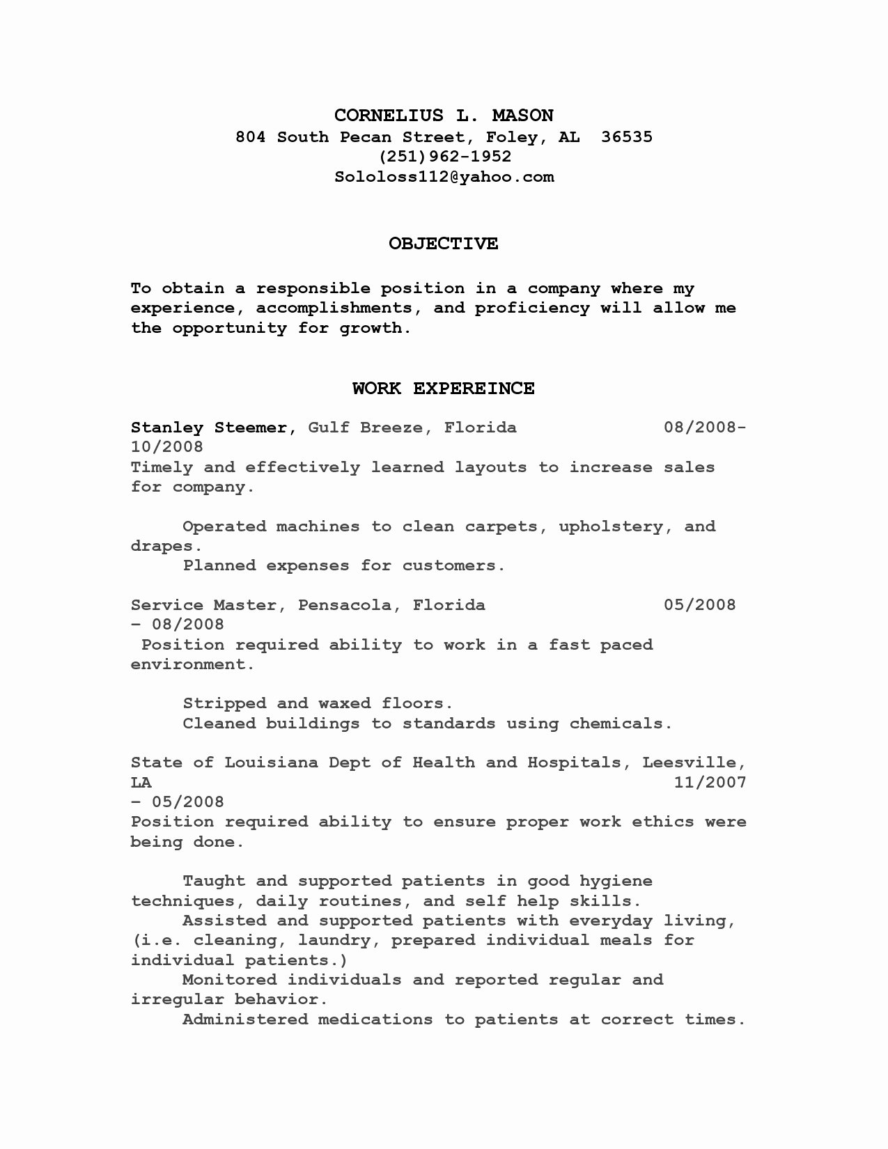 Food Server Resume Sample Fine Dining Job Description