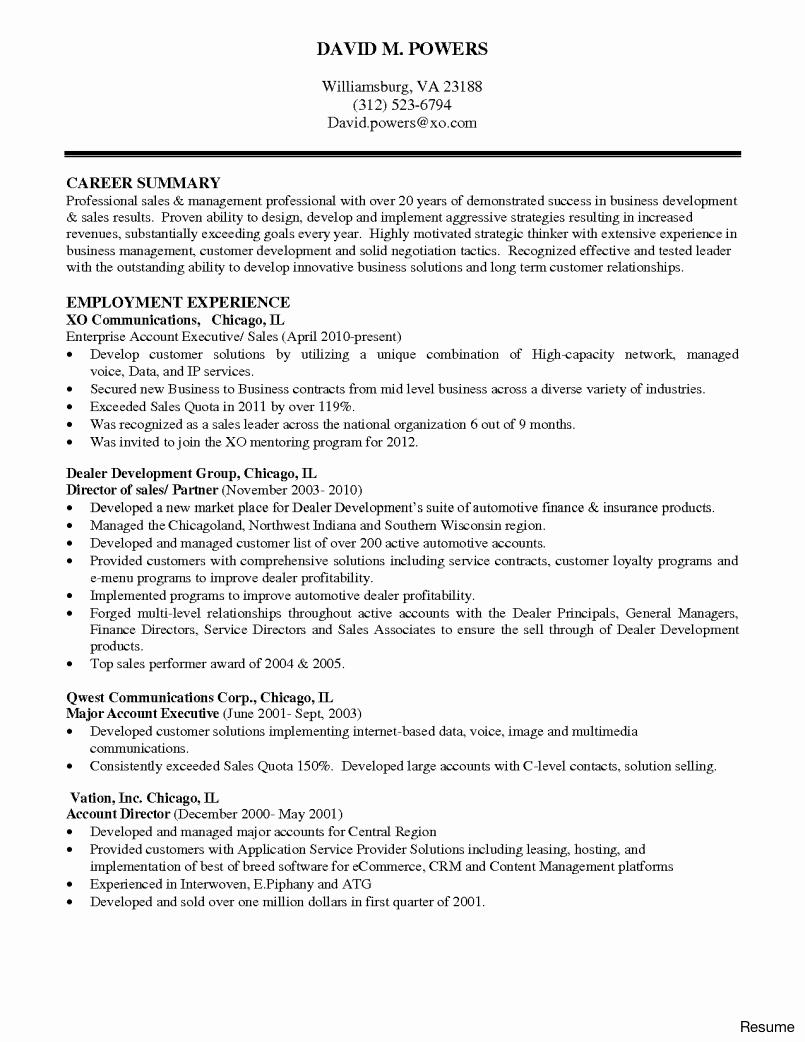 Food Service Resume Summary Qualifications