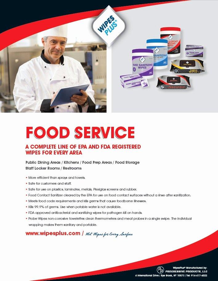 Food Service Sell Sheet Wipesplus