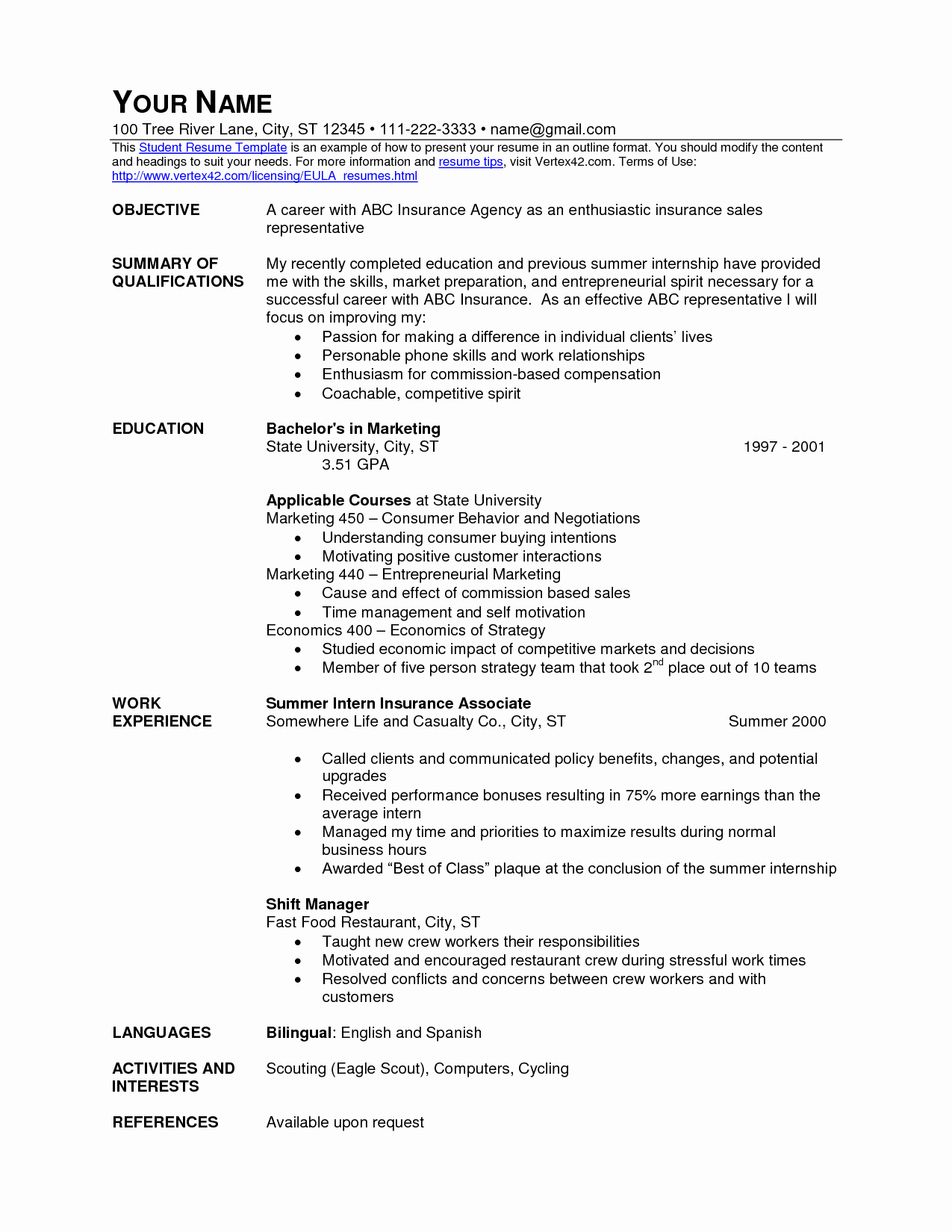 Food Service Worker Resume Skills