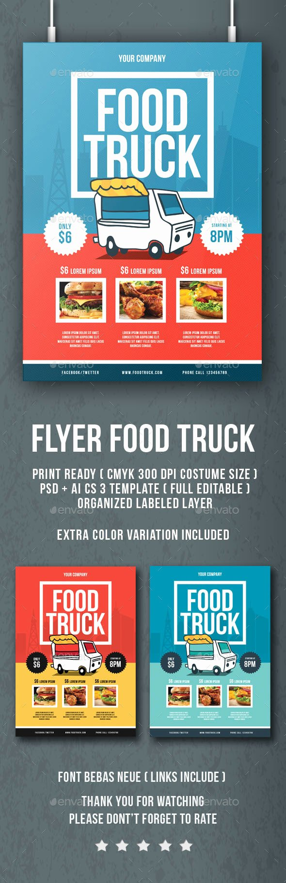 Food Truck Flyer by Lilynthesweetpea