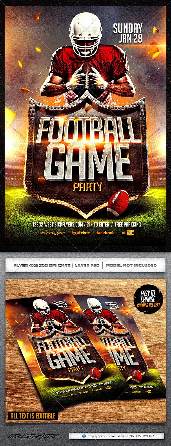 Football Flyer Template by Industrykidz