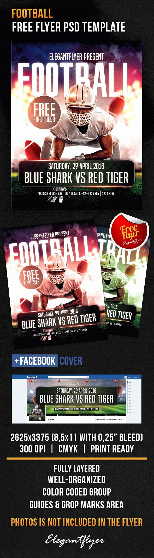 Football – Free Flyer Psd Template – by Elegantflyer