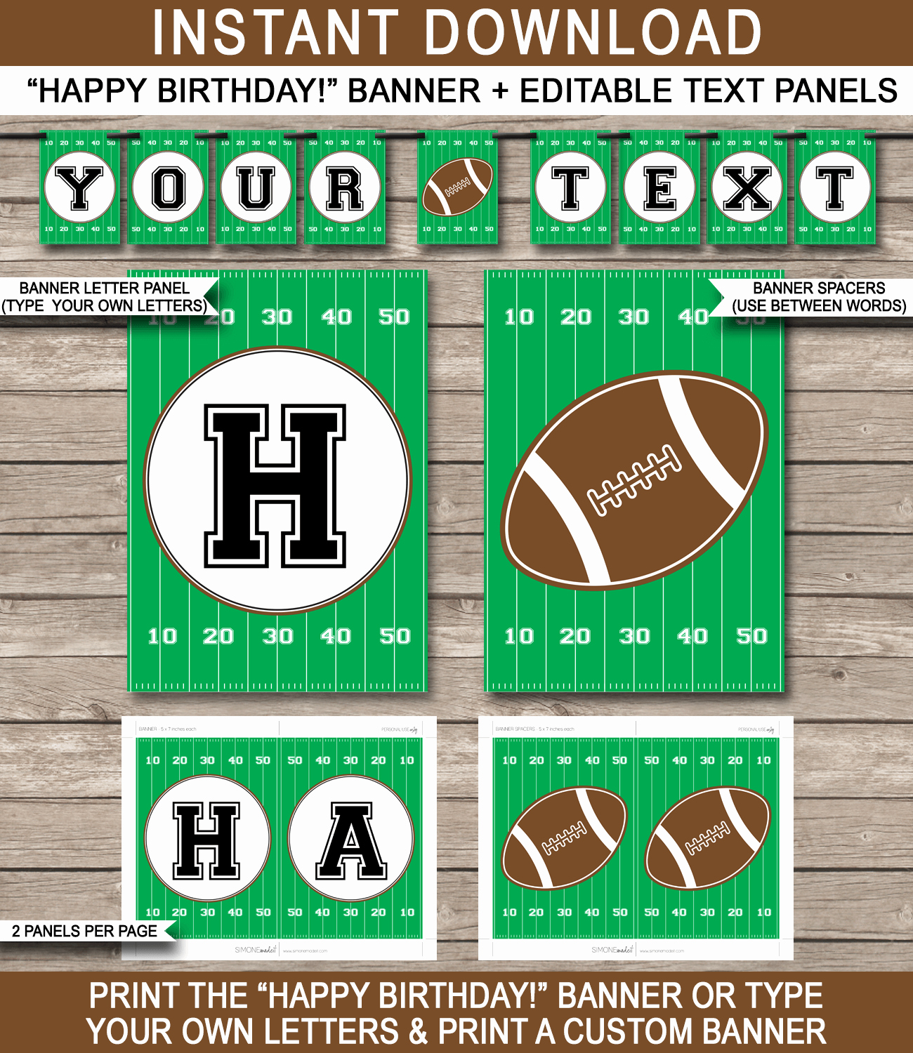 Football Party Banner Template