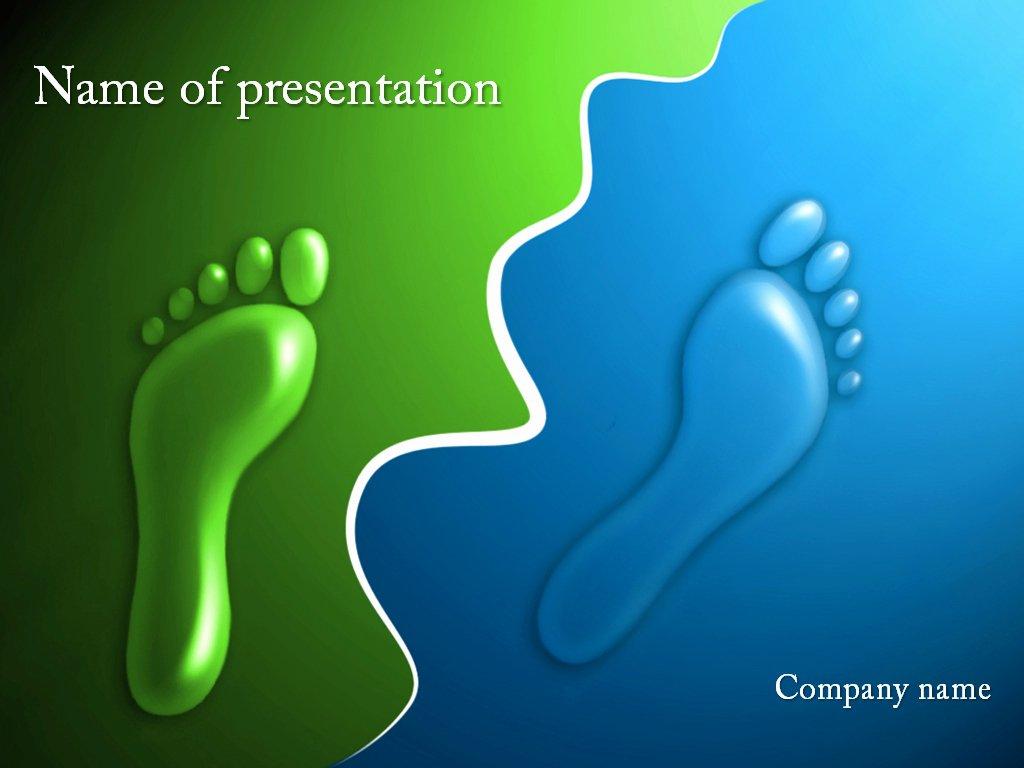 Footprints Powerpoint Template for Impressive Presentation