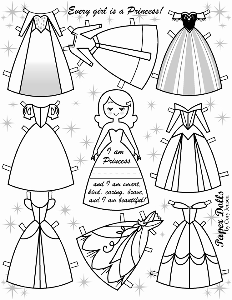 For Your Princesses Free Disney Inspired Paper Dolls