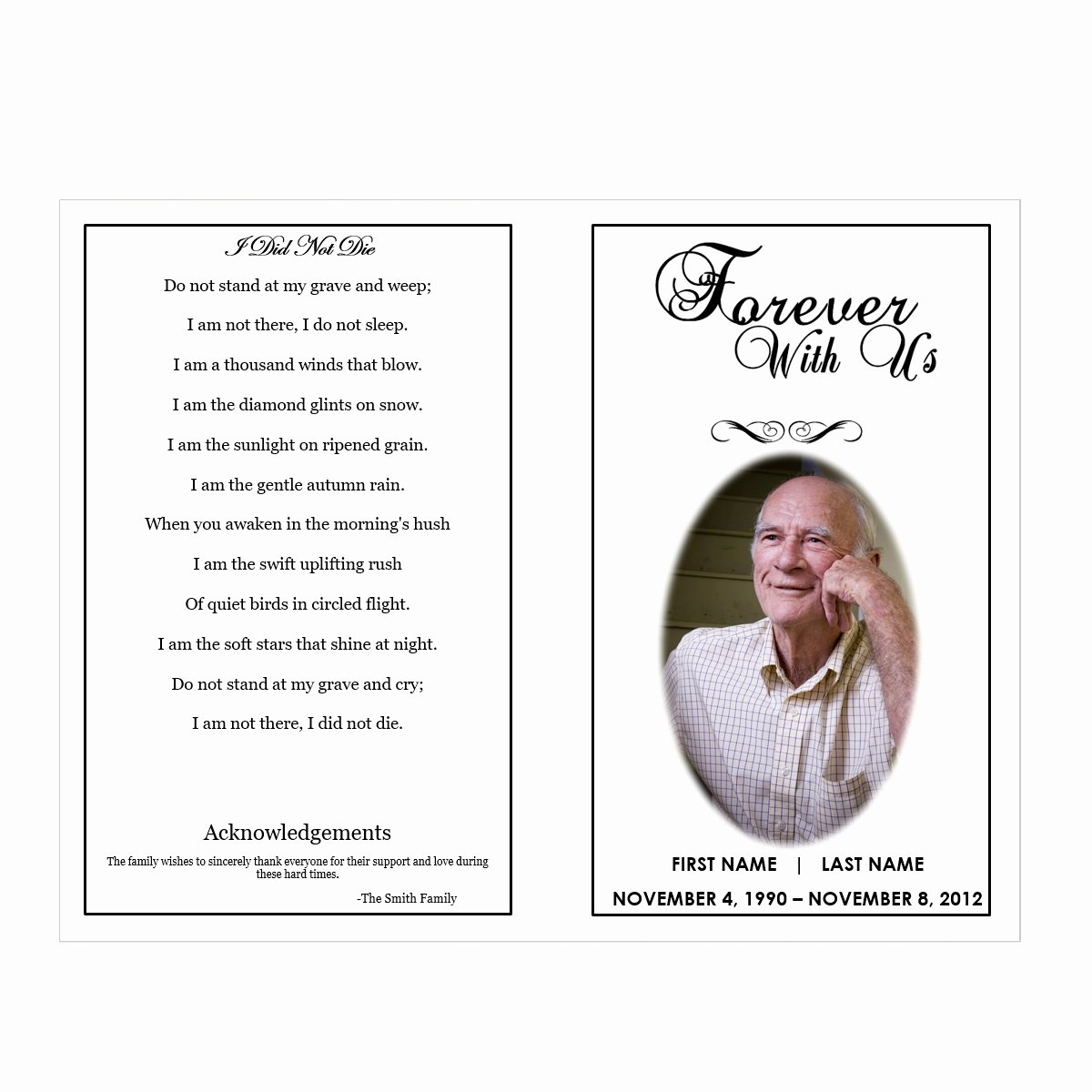 Forever with Us Funeral Pamphlets