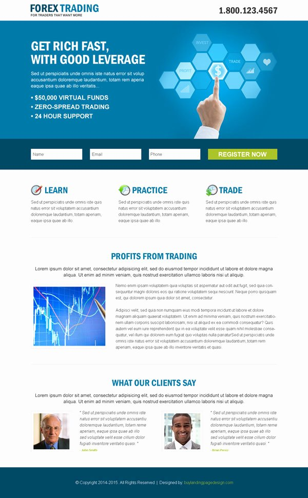 Forex Trading Landing Pages 2015 for Best Conversion & Sales