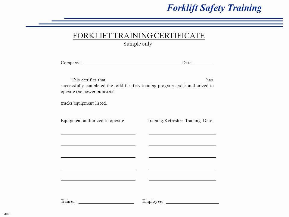 Forklift Safety Training Ppt Video Online