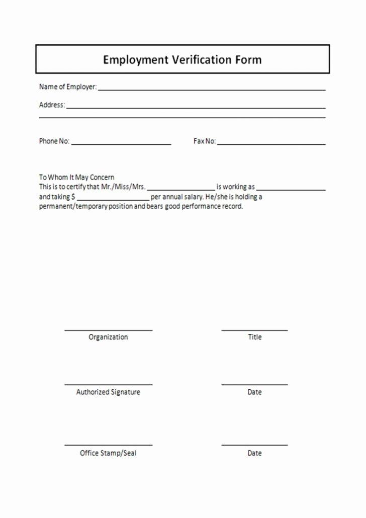 Form Employment Verification form