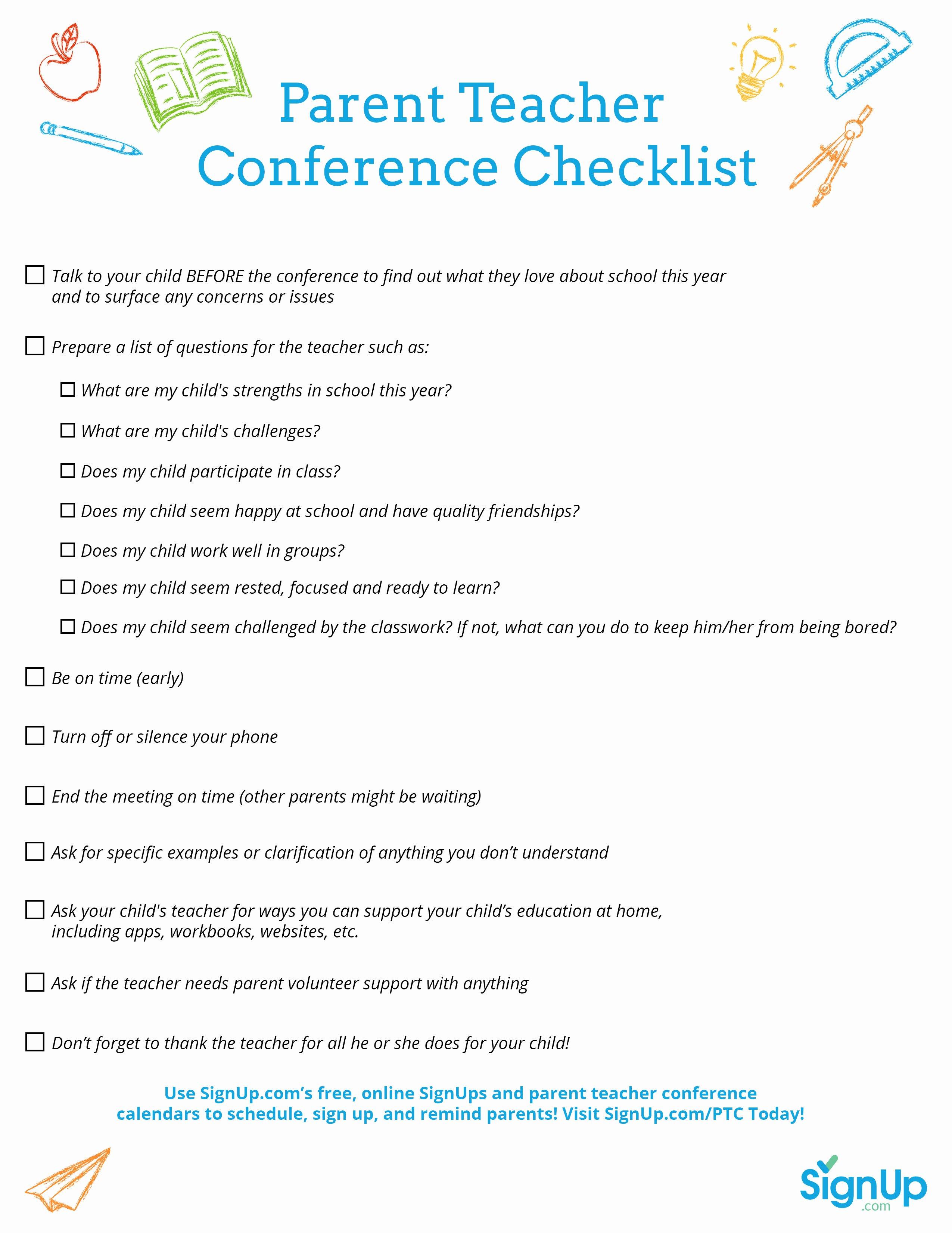 Form Parent Teacher Conference forms