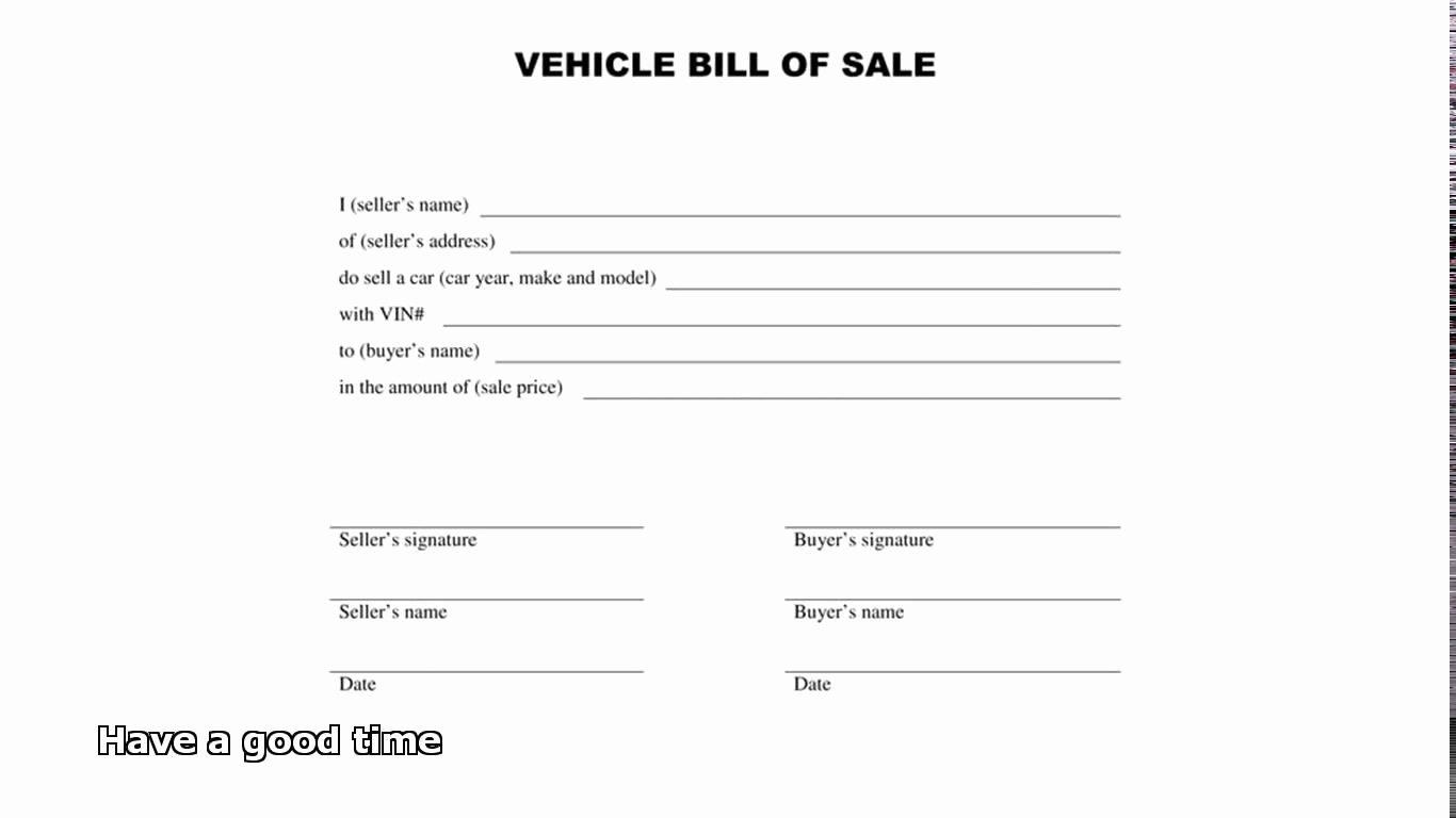 Form Template General Bill Sale form General Bill
