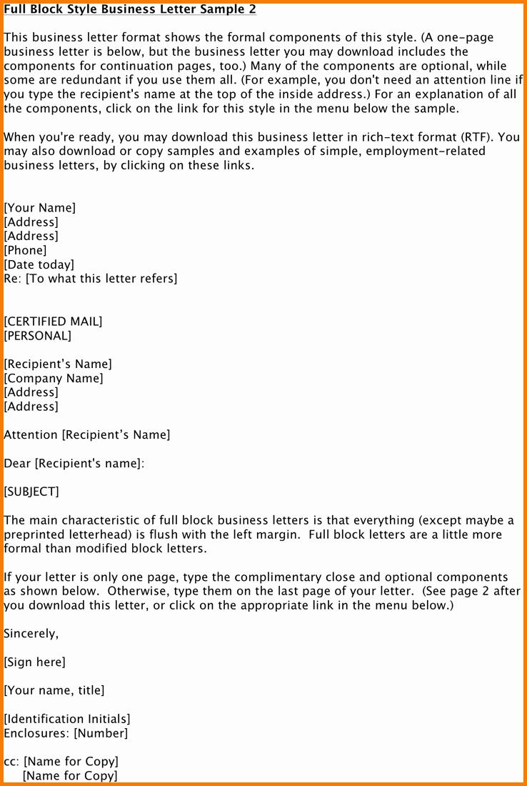Formal Business Letter format Pdf