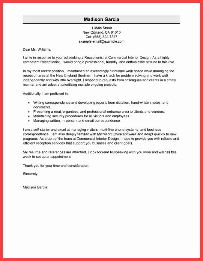 Formal Cover Letter Sample