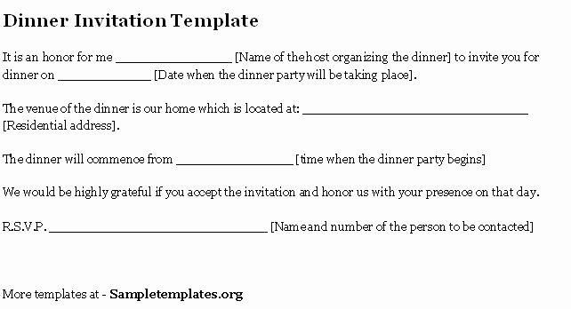 Formal Dinner Invitation Letter Sample Jin's Invitations