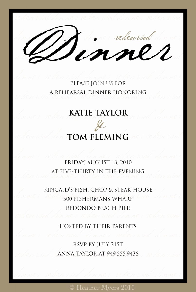 Formal Dinner Invitation Sample