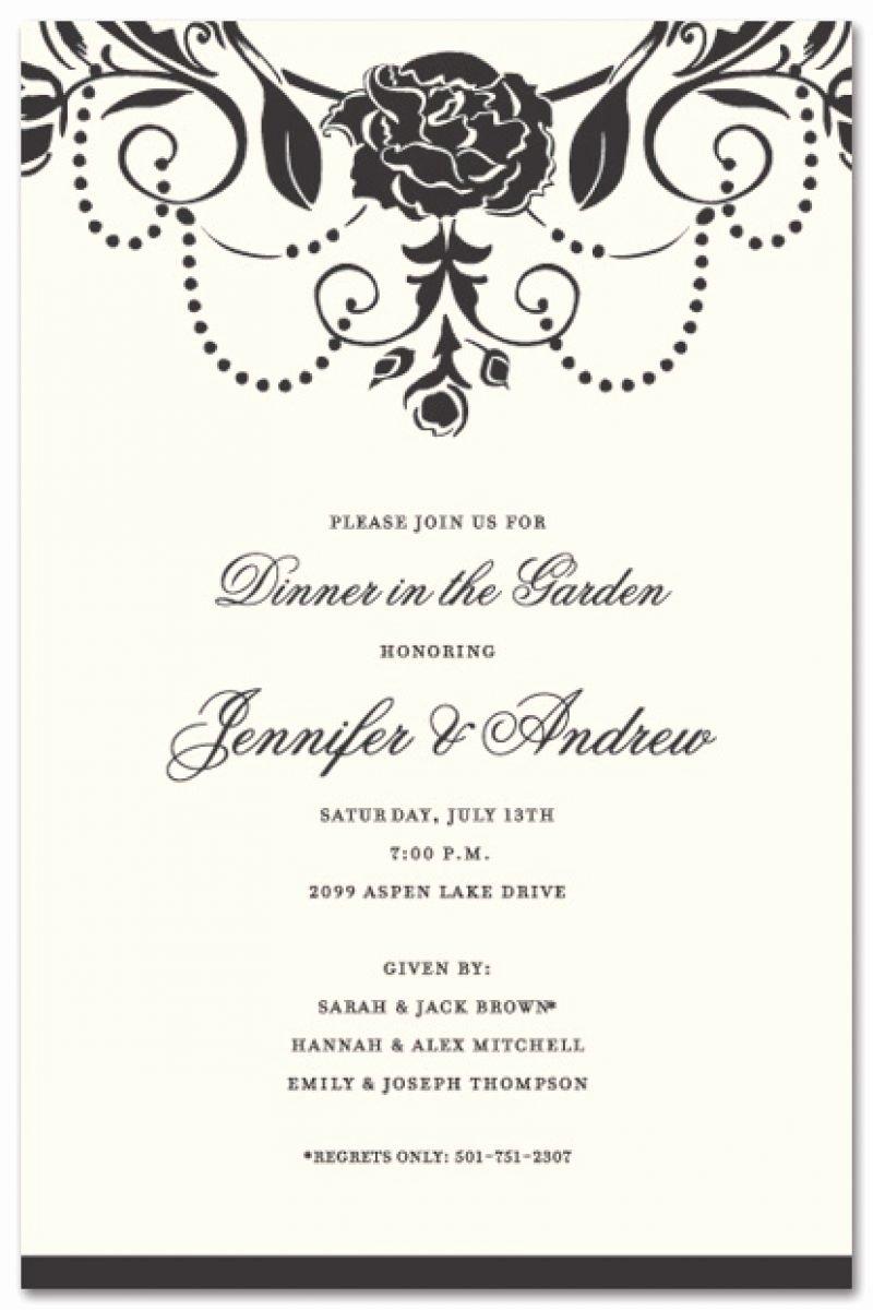 Formal Dinner Invitation Template Fwauk