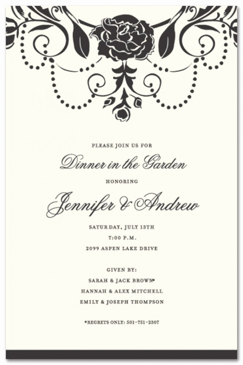 Formal Dinner Invitation Template