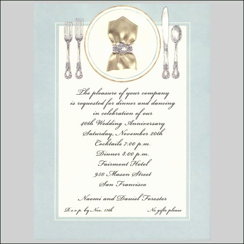 formal dinner invitations