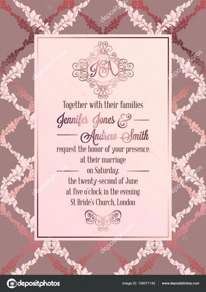 Formal Invitation Card Template Sample Cards Wording Blank