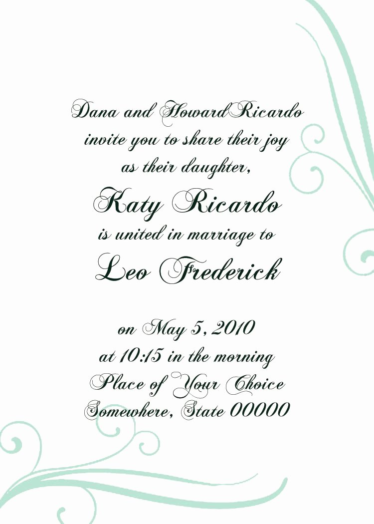 formal invitation templates