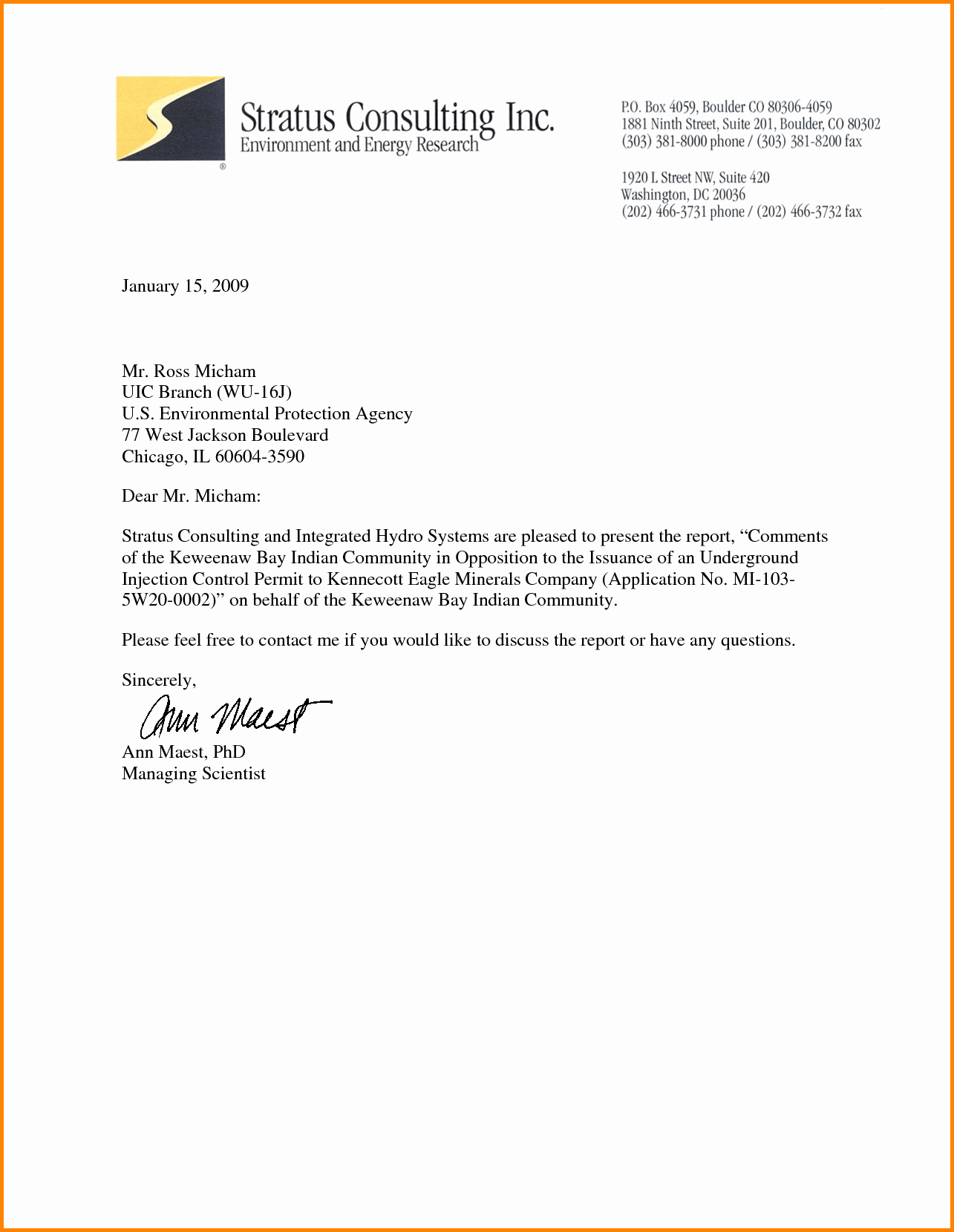 Formal Letter format with Letterhead