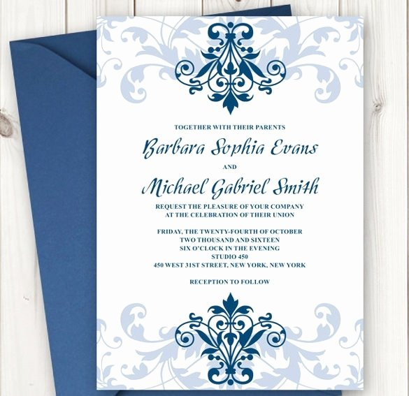 Formal Template Invitation Card