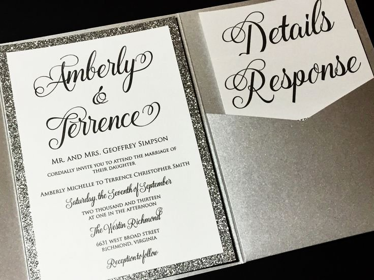 Formal Wedding Invitation formal Wedding Invitation for