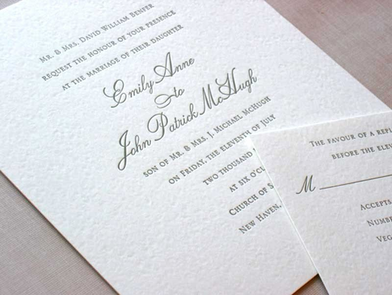 Formal Wedding Invitation Wording Etiquette Great when to