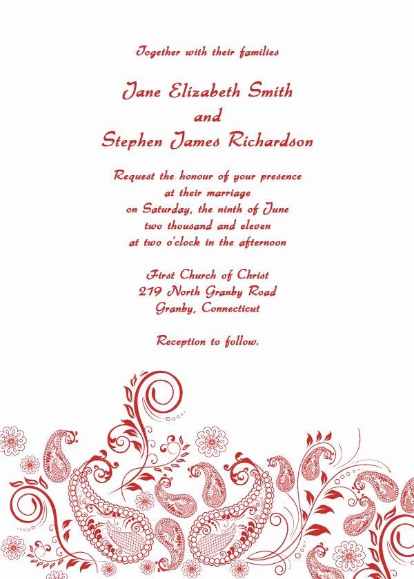 Formal Wedding Invitations Free Printable Wedding Invitations