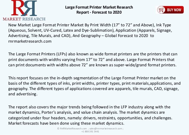 Format Printer Market Research Report forecast to 2020