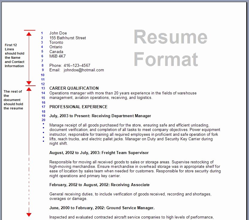 Formats A Resume Correct Resume format