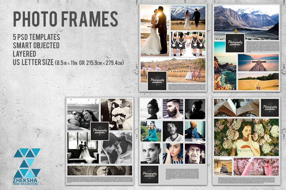 Frames Collages Templates On Creative Market