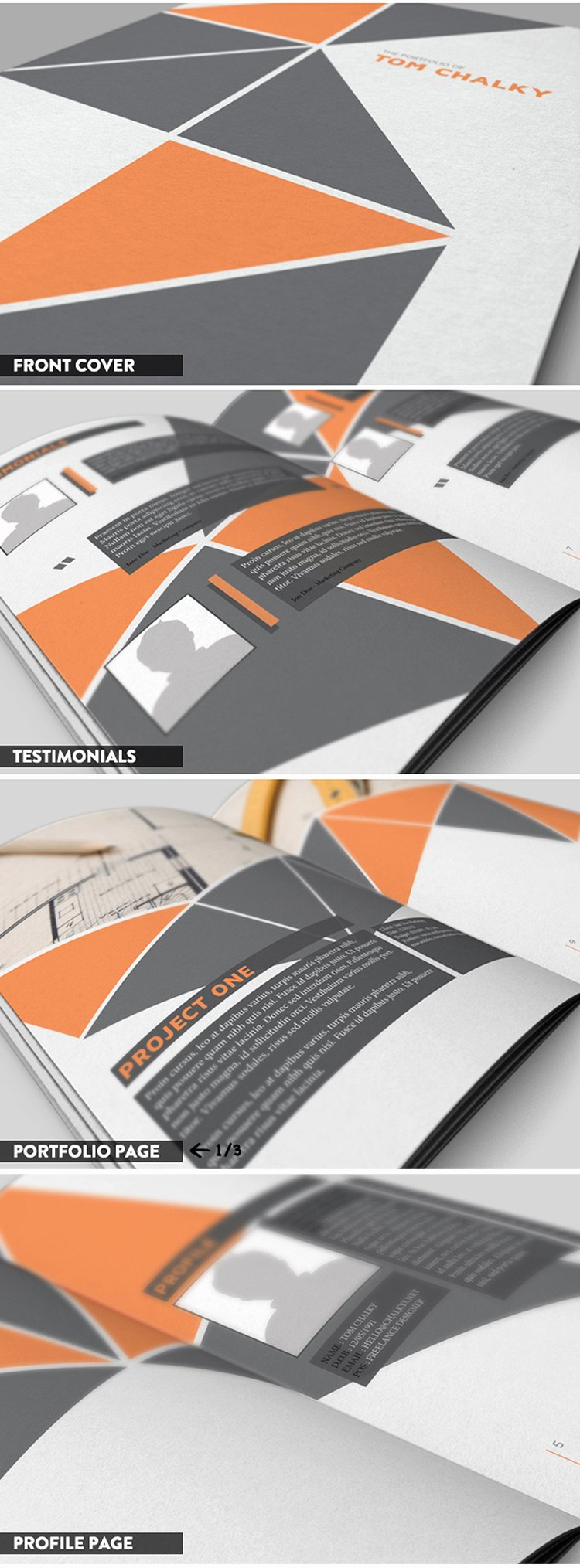 free 16 page case study portfolio booklet indesign file