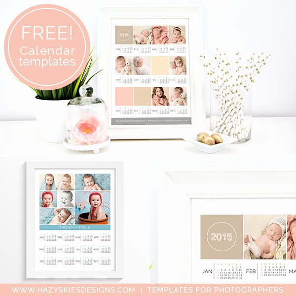 Free 2015 Shop Calendar Template for Graphers