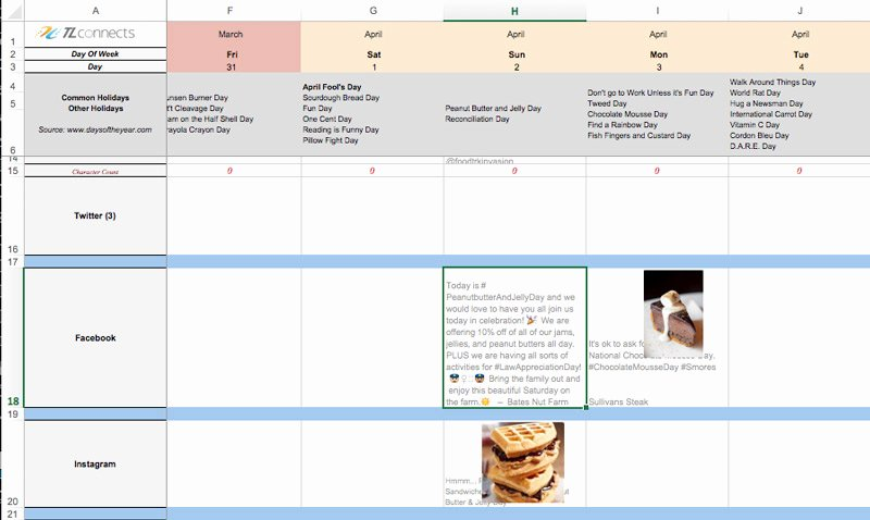 Free 2017 Marketing Calendar Template Traditional and