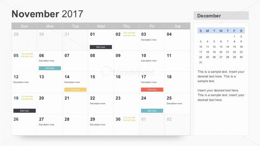 Free 2017 Powerpoint Calendar Slides Slidemodel