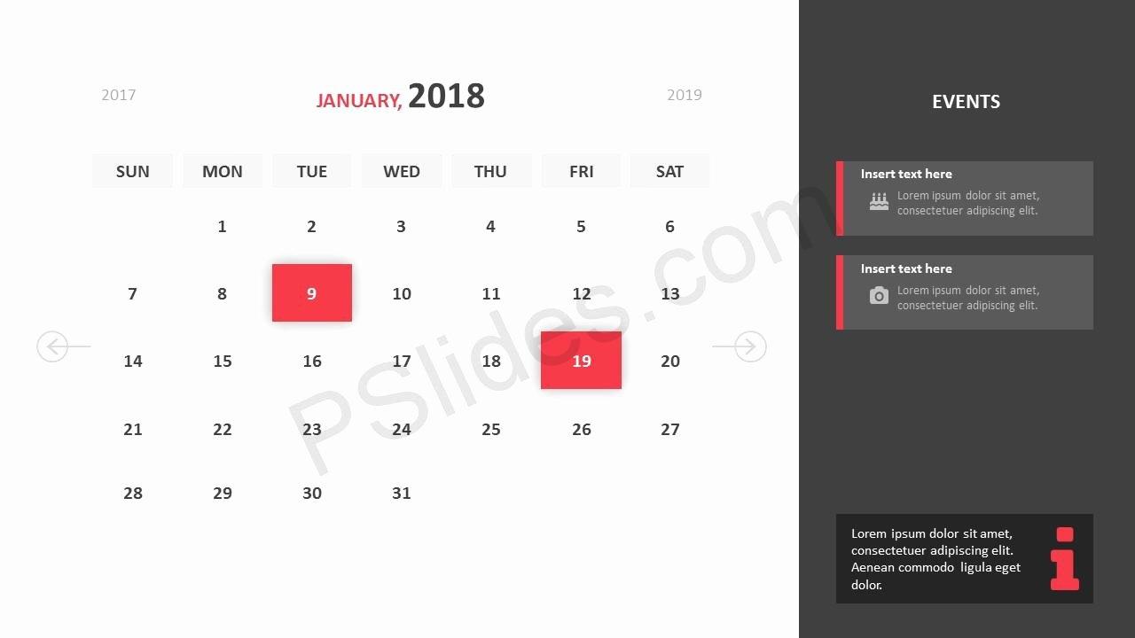 Free 2018 Calendar Powerpoint Template Pslides