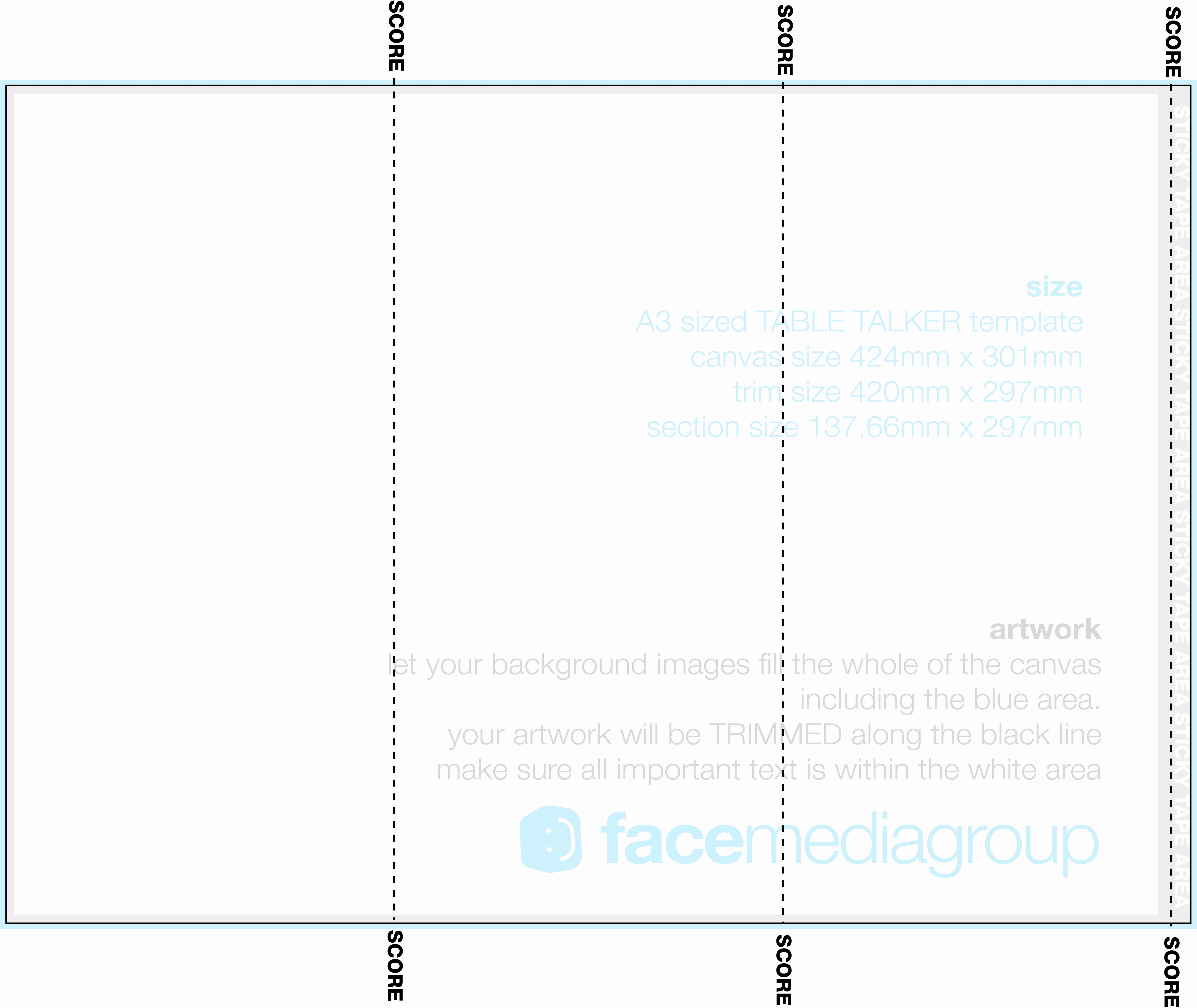 Free 3 Sided Table Tent Template