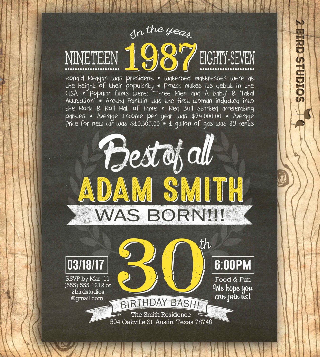 Free 30th Birthday Invitation Wording – Free Printable